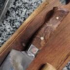 Kochmesser - nicht rostfrei, Bruyere, erste Benutzung 3