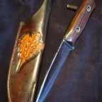 Egons Jagd-Outdoormesser - mein drittes gefertigtes Messer mit Lederscheide