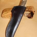 Von mir gefertigte Lederscheide - Kundenauftrag
