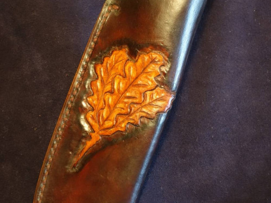 Egons Jagdmesser - mein drittes gefertigtes Messer mit Lederscheide