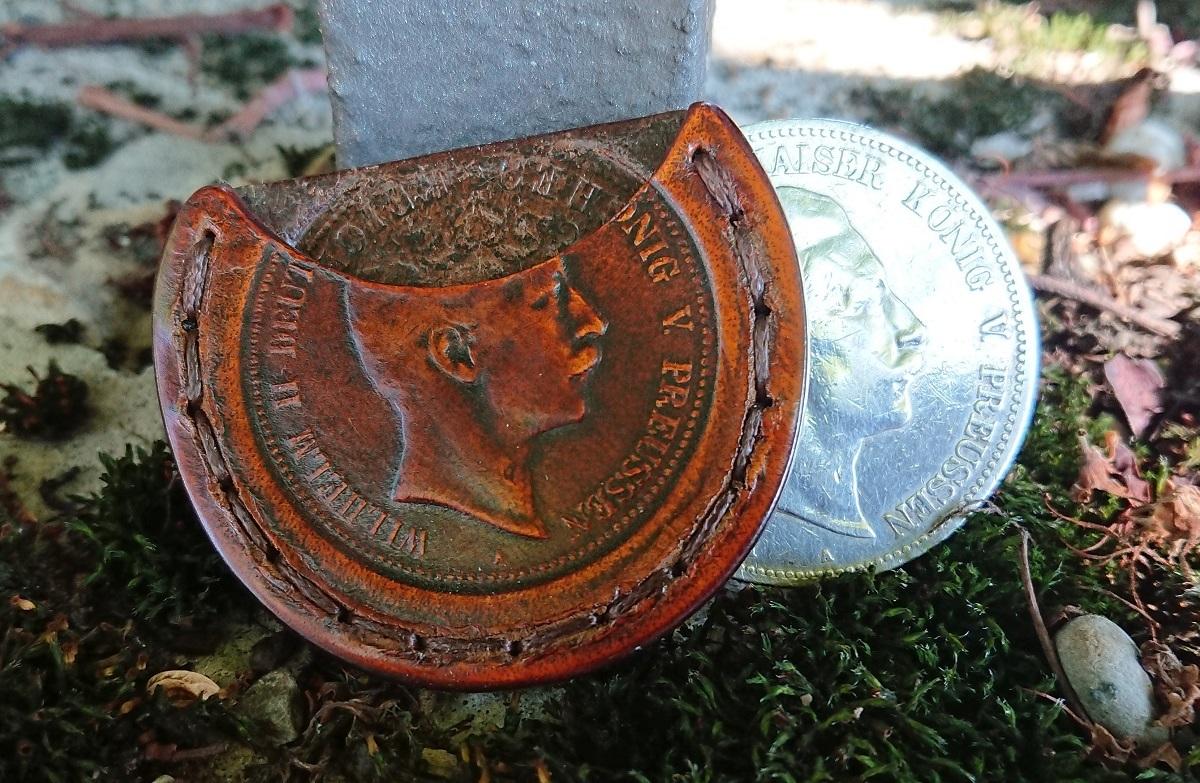 Wurfmünzensteckscheide