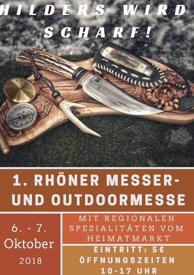 Hilders wird scharf - 1. Rhöner Messermesse u. Outdoor Messe 6.+7.10.2018